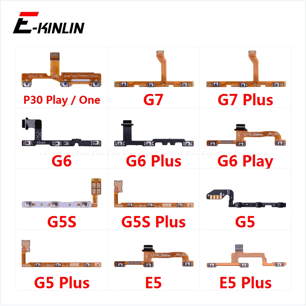 Power On Off Button Volume Switch Key Control Flex Cable Ribbon For Motorola Moto P30 Play One G7 G6 G5S G5 E5 Plus Repair Part