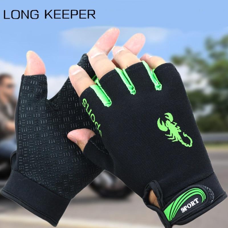 2019 Half Finger Gloves Men Women's Summer Sports Fishing Training Gloves Non-slip Sunscreen Breathable Fingerless Mittens Luvas