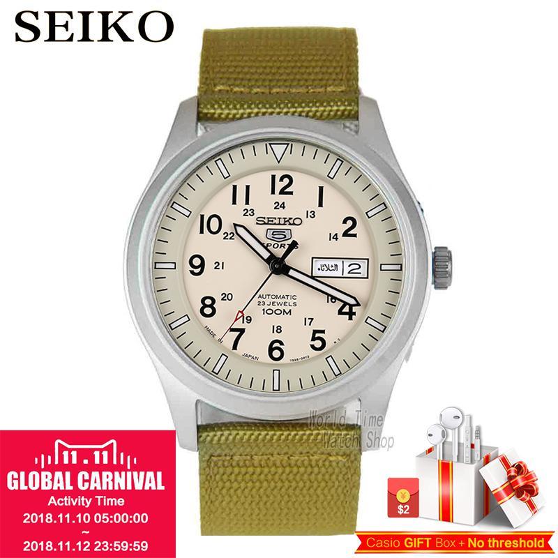 SEIKO Watch No. 5 Automatic Fashion automatic mechanical waterproof men watch SNZG13J1 SNZG11K1 SNZG07J1 SNZG17J1 SNZG09J1 цена