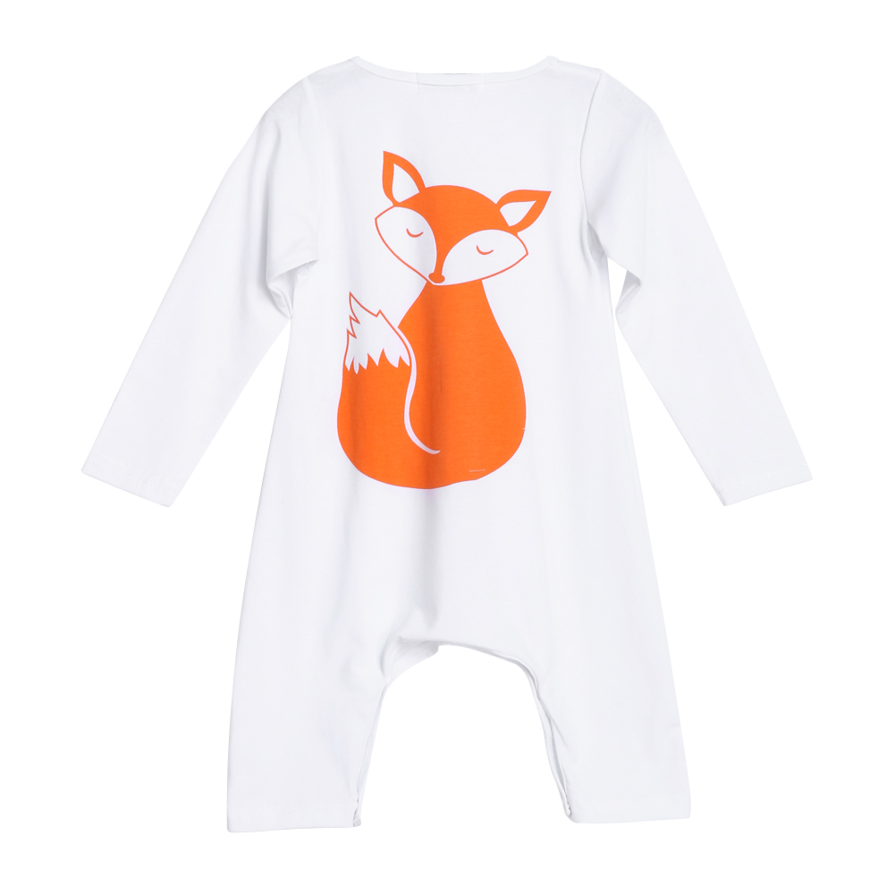 Baby Romper Long Sleeve Cotton Newborn Kids Boys Girls Fox Warm Jumpsuit Infant Children Jumpsuit  Body Clothing Rompers newborn baby girls rompers 100% cotton long sleeve angel wings leisure body suit clothing toddler jumpsuit infant boys clothes
