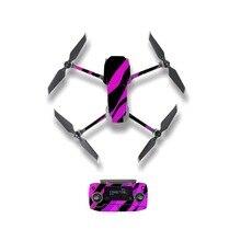 Красочные линии стиль кожи наклейка для DJI Mavic 2 Pro и зум Дрон корпус пульт дистанционного управления батарея защитная пленка
