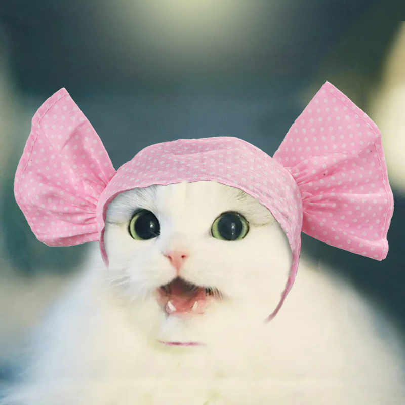 Pet Candy Cap Head Cover Funny Pet Headwear Party Hat For Cats Small Dogs Kitten Puppy Cosplay Accessory Outdoor Headscarf