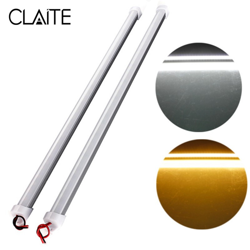 CLAITE 36 LED Bar Light DC12V 50cm SMD 5730 Rigid LED Strip Light 6.4W Pure White Warm White Waterproof Strip Light With Cover