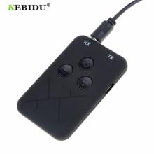 Kebidu 3.5mm אודיו אלחוטי Bluetooth משדר מקלט מתאם 2 ב 1 סטריאו אודיו מוסיקה מתאם כבל עבור טלוויזיה רכב רמקול