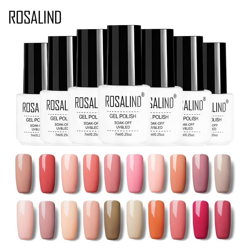 Rosalind Gel 1S Nail Gel Pure Nude Color Series Semi Permanent UV Gel Varnish Soak-off Gel Lacquer For Nail Art