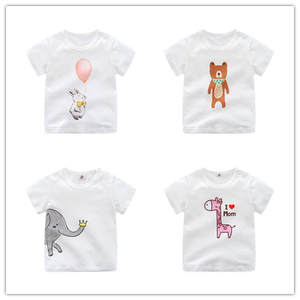 T-Shirts Girls Baby Short-Sleeve Newborn Summer Soft Boys Kids Children