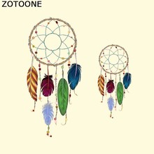 ZOTOONE Iron On Dreamcatcher Feathers Patches For ClothesT-shirt Dresses Transfers Clothing Applique Heat Press DIY