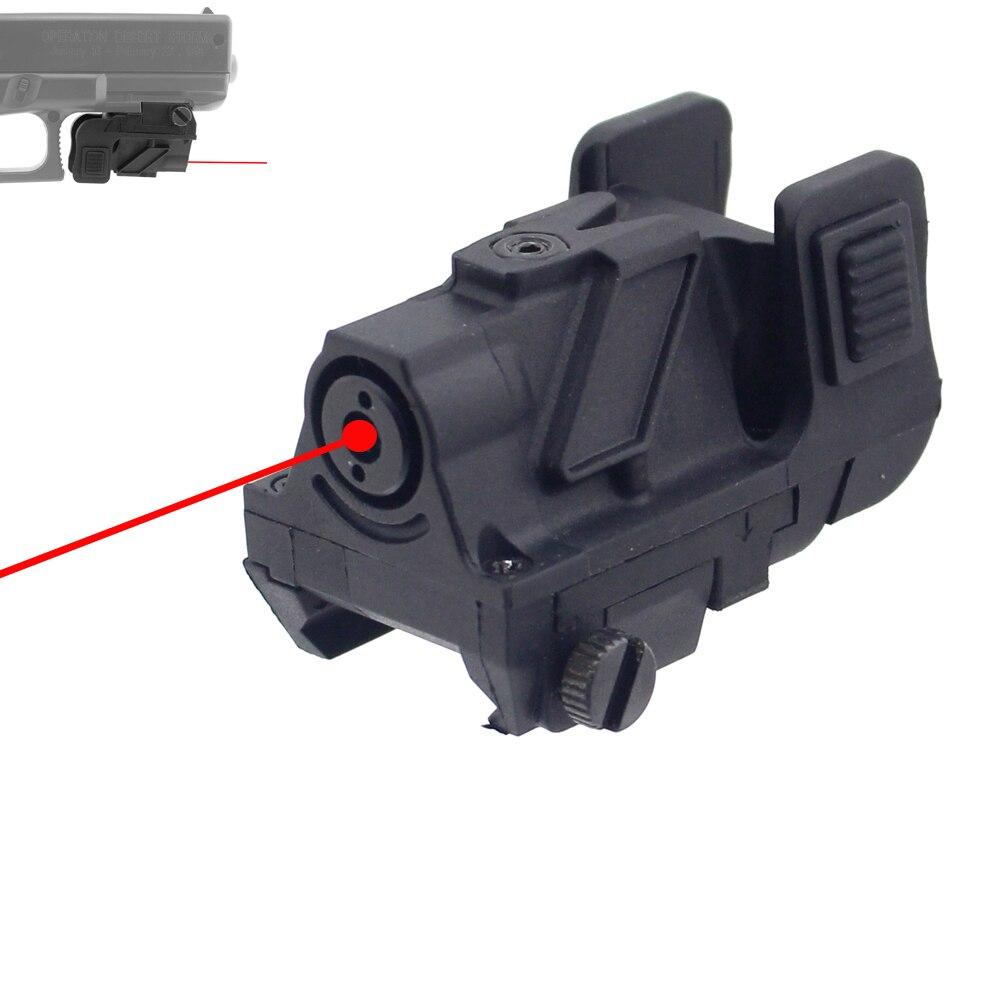 Micro point rouge point vert pistolet Laser sous-compact pistolet tactique vert Laser vue rouge portée de visée Laser