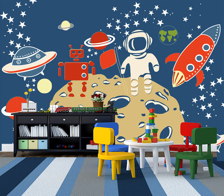 Space Travel Photo Wallpaper Custom 3d Wall Mural Cartoon Wallpape