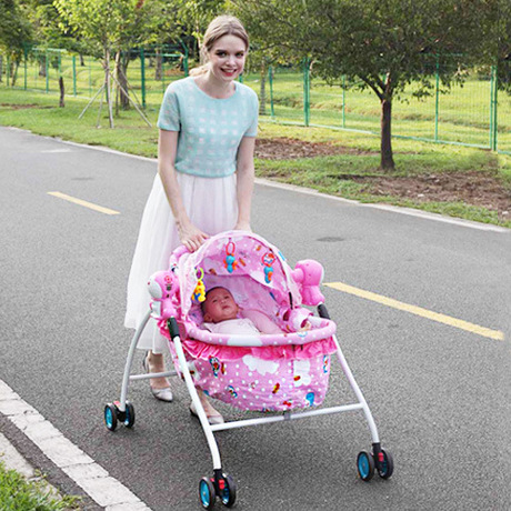 Cradle bedding ABS multi function electric baby bassinet with roller baby rocking chair mesedora para bebe Cradle bedding ABS multi-function electric baby bassinet with roller baby rocking chair mesedora para bebe baby nest 57*76*95cm