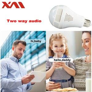 Image 5 - Fisheye IP Camera 360 degree Panoramic Camera HD WiFi Camera IP Indoor Home Web Security Cam light bulb E27 Night Vision