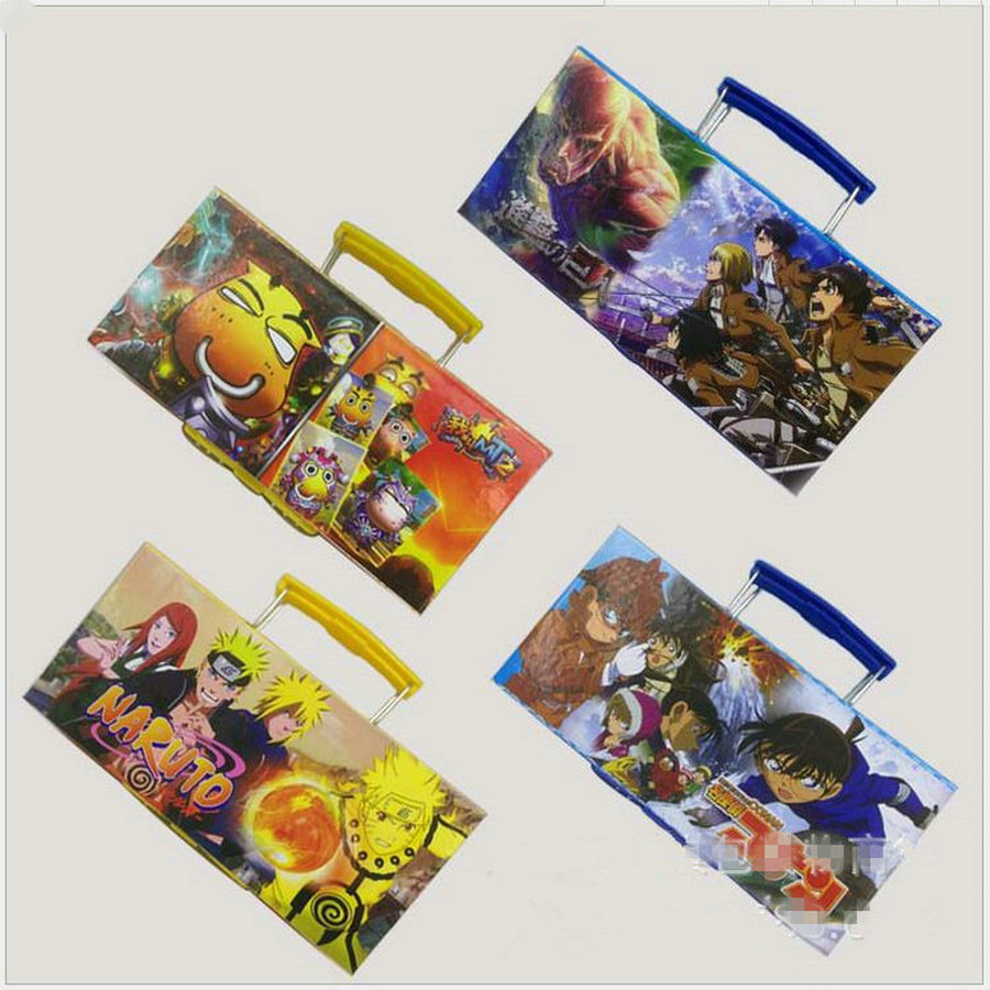1pcs Cartoon Ninja Conan My name is MT Attack on Titan student Multilayer File holder Password stationery my name is leon
