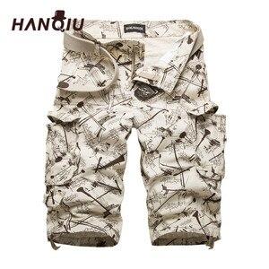 Image 1 - 2020 yaz pamuk Mens kargo şort moda kamuflaj erkek şort çok cep rahat Camo açık havada Tolling Homme kısa pantolon