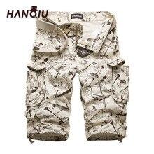 Мужские хлопковые шорты карго Summner, модные камуфляжные мужские шорты со множеством карманов, повседневные камуфляжные уличные мужские короткие брюки, 2020