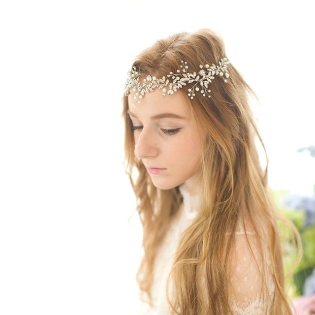 Cristal Pérola Casamento Strass Tiara De Noiva Artesanal Cabelo Acessório Headwear Chapéu De Noiva Ocasião Especial