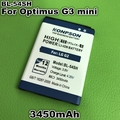 3450mAh BL-54SH Battery For LG Optimus G3 mini G2 D725 D722 D728 D729 D22 F300 L90 F7 F260 D410 D405N US780 P698 F320 g3s mini