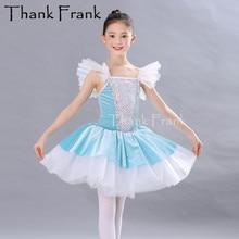 Новое профессиональное балетное платье для девочек детские танцевальные платья принцессы с блестками женские бархатные романтические балетные костюмы Одежда для вечеринок