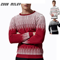 Los Hombres de moda Suéter Suéter de Punto Otoño Invierno O-cuello de Manga Larga Jumpers Calientes Causales Más El tamaño 5XL Masculino Jersey Ropa