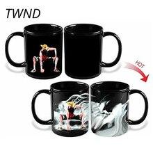 300CC изменение цвета кофейные кружки одна штука Луффи Чай Молоко чашки волшебная посуда для напитков