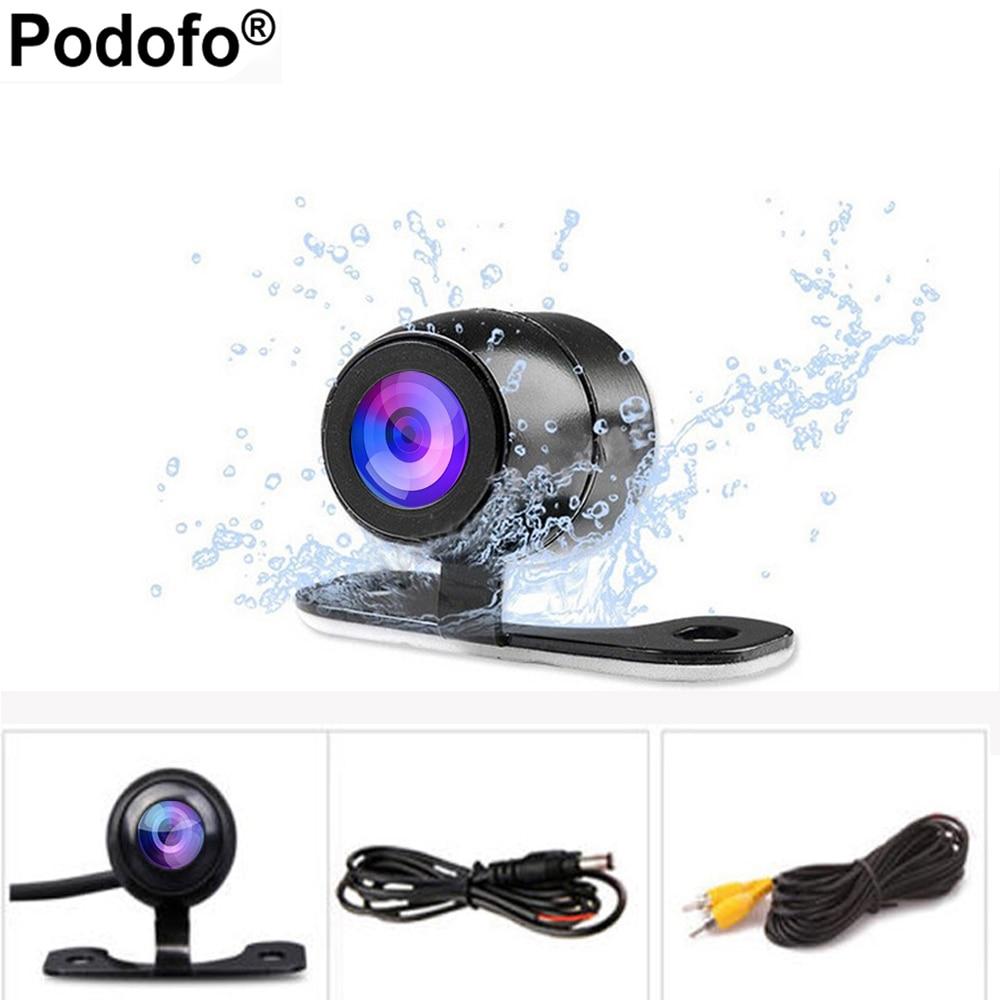 Podofo auto CCD HD Cámara reversa trasera Monitores ayuda de estacionamiento universal cámara frontal cámara de visión trasera Cámara impermeable