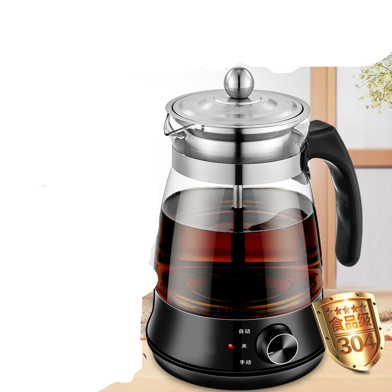 tea maker black pu 'er Glass electric kettle steam teapot automatic type set Safety Auto Off Function