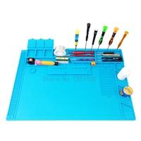 S 170 48x31 8cm Heat Insulation Silicone Pad Desk Mat Maintenance Platform For BGA Soldering Repair