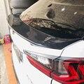 QHCP углеродное волокно Автомобильный задний багажник спойлер крыло Empennage стикер 1 шт. внешний аксессуар для Lexus RX200T 350 450H 2016-2018