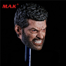 New 1:6 Scale Logan Head Sculpt Wolverine Hugh Jackman Angry Version fit 12