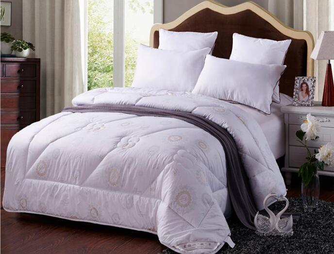 White Washable Natural Organic Australian Wool Filled Heavyweight Comforter Quilt Duvet Doona 150*200cm Queen Size 3KG 250GSMWhite Washable Natural Organic Australian Wool Filled Heavyweight Comforter Quilt Duvet Doona 150*200cm Queen Size 3KG 250GSM