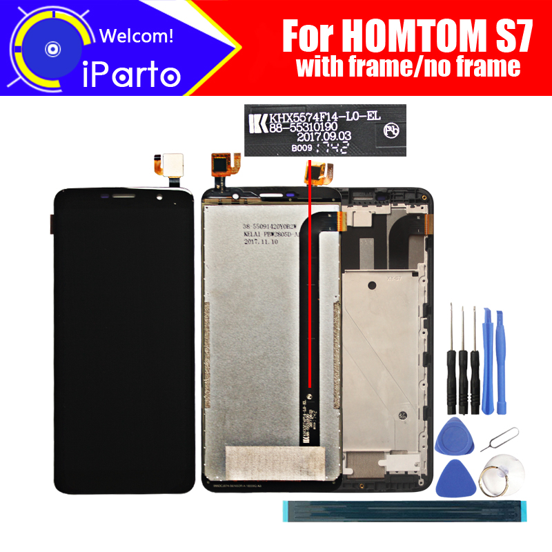 5.5 inch HOMTOM S7 LCD Display+Touch Screen Digitizer Assembly 100% Original New LCD+Touch Digitizer for HOMTOM S7+Tools(China)