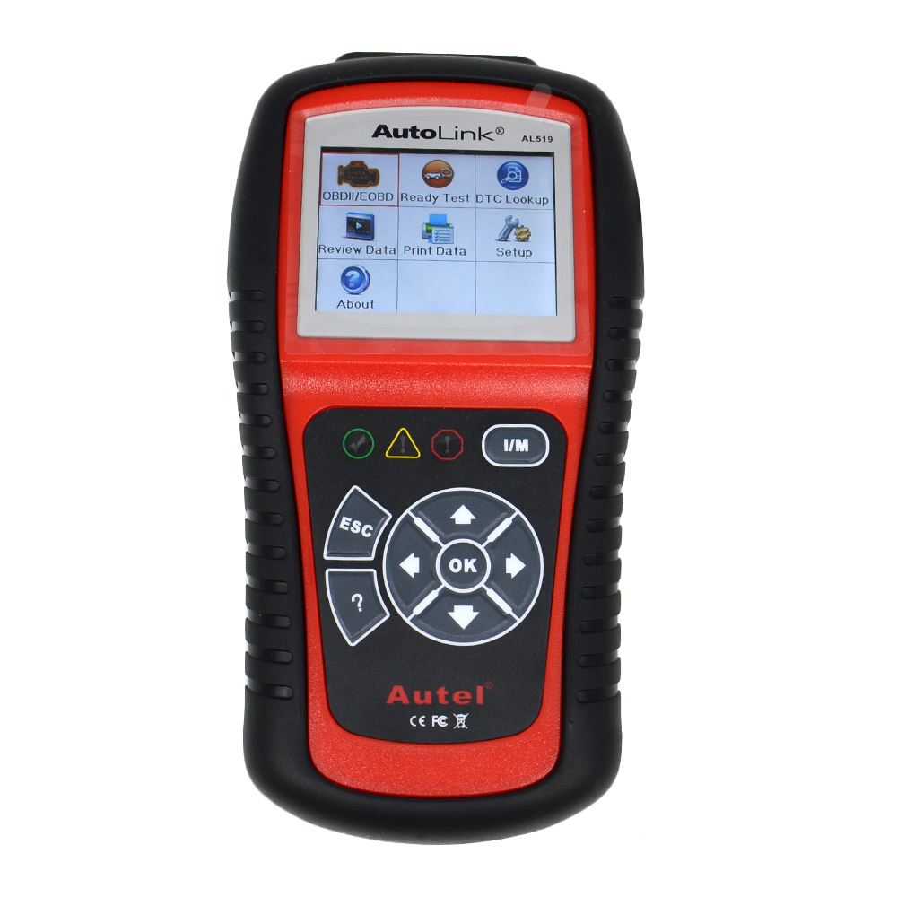 Autel AutoLink OEM AL519 OBDII/EOBD Auto Code Scanner with 10 modes diagnosis TFT color display Work on ALL 1996 newer vehicles 100% original autel maxidiag elite md701 all system ds model obdii auto code reader md 701 for japanese cars