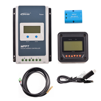 EPever MPPT 20A 2210AN Solar Charge Controller Black Light LCD Solar Regulator for 12V 24V Lead Acid Lithium ion Battery