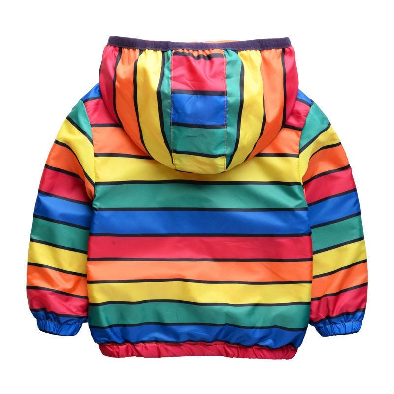 Yeni moda hər iki tərəf rəngli rəngli zolaqlar geyir, uşaqlar - Uşaq geyimləri - Fotoqrafiya 4