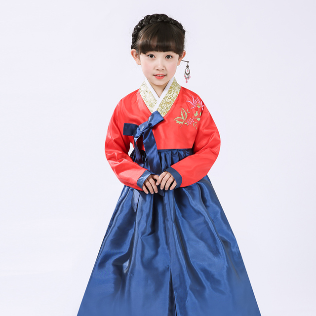 9799645baf6e Multicolor Girls Korea Traditional Costume Children Hanbok Dress ...