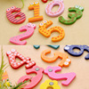 Party Gift Home Decor Multicolor  Wooden Fridge Magnet Educational Toy Symbol Alphabet Numbers  Cartoon Baby Kid  4
