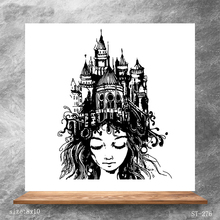 ZhuoAng Castle Woman Clear Stamps/Silicone Transparent Seals for DIY scrapbooking photo album Stamps 8*10cm