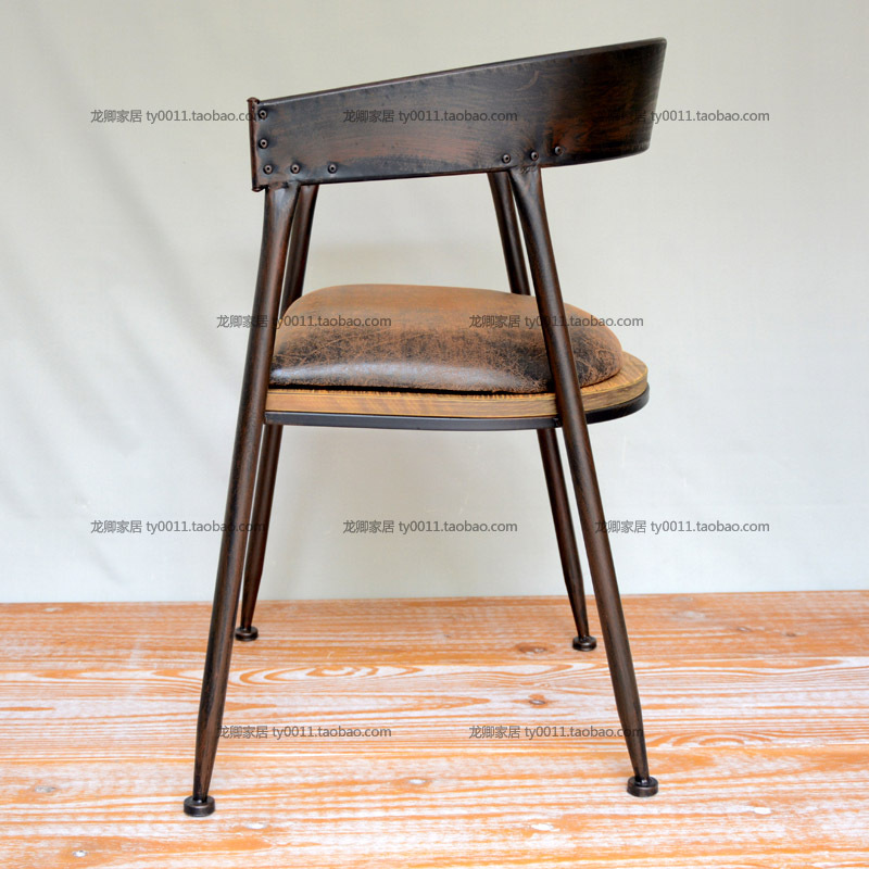 LOFT American Country To Do The Old Industrial Style Vintage Wood With Wrought Iron Chairs Armrests Office Chair Cushion In Shampoo From