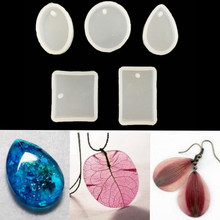 Water Droplets Shape Epoxy Jewelry Mold Transparent Silicone Mould Pendant DIY Dried Flowers Specimen Tools Cake Molds(China)