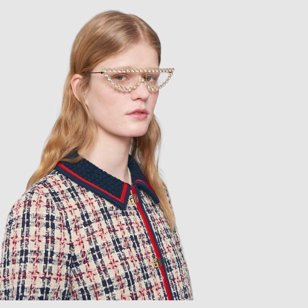 Compre TOYEARN Marca De Design De Moda Senhoras Olho De Gato Óculos ... 82f384deb3