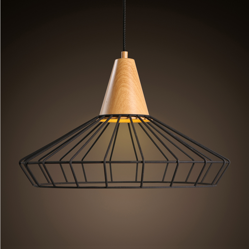 The iron mesh retro single head pendant modern minimalist cafe bar clothing store Hot pot shop Chandelier GY143 managing the store