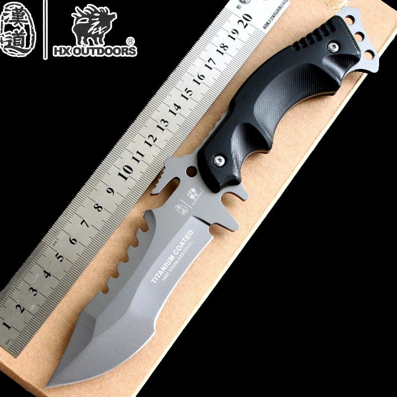 HX Outdoors Survival font b Knife b font US Army Military font b Knife b font