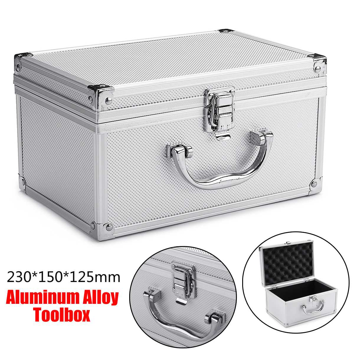 23x15x12.5cm Tool Box Aluminium Alloy Home Storage Box Portable Storage Suitcase Travel Luggage Organizer Case Tools