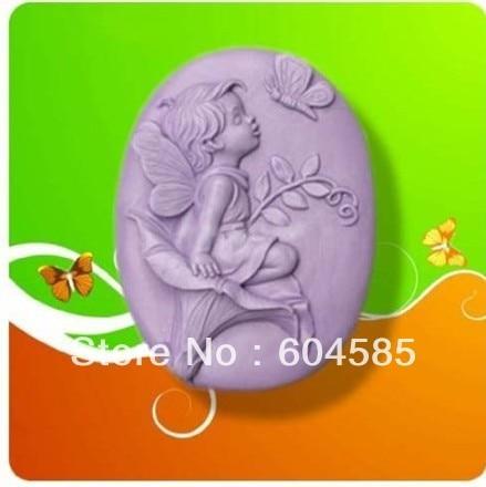 Ангел с бабочкой 50048 Ремесло Искусство Силиконовые формы для мыла ремесленные формы DIY ручной работы формы для мыла