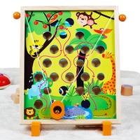 Kids Montessori Wooden Educational Toy For Children Montessori Materials 3 Pattern Shipping Beads Balls Treasure Hunting Toy