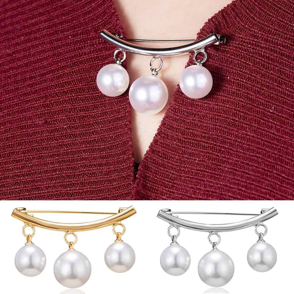 Rinhoo 1pcs High Quality Women Pearl Brooch Classic Charm Simple Pearl Brooches Vintage Pins Wedding Lovers Jewelry Accessories