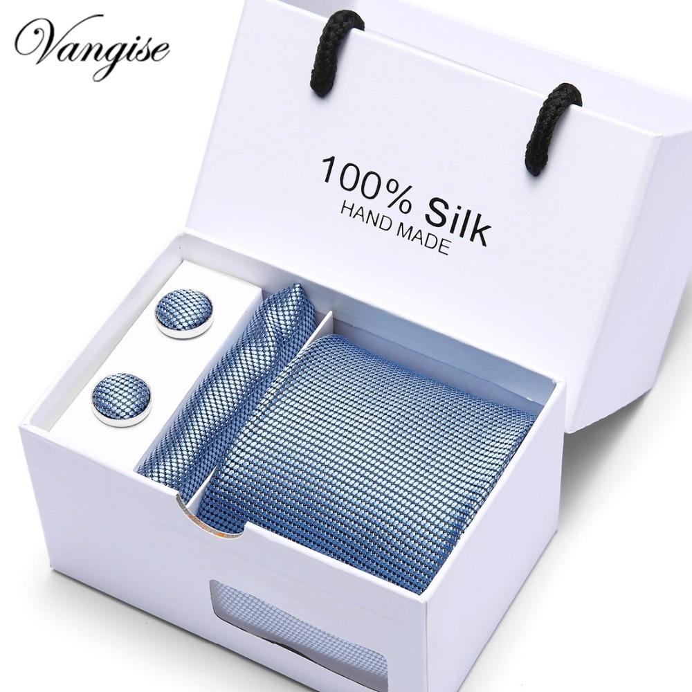 2019 New Mens Ties Neck Tie Set for Men Suits Tie Handkerchief Cufflinks Gravatas Ties for Men Wedding Vestidos Corbatas in Men 39 s Ties amp Handkerchiefs from Apparel Accessories