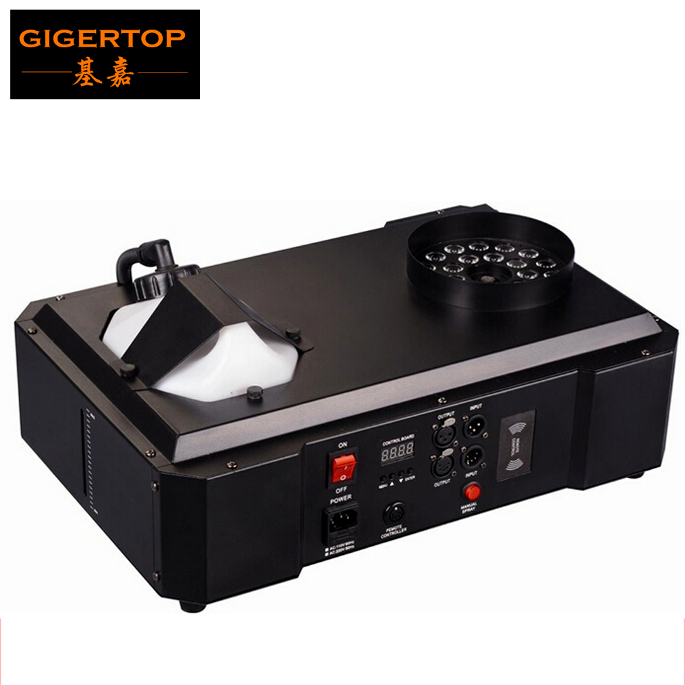 1500W DMX LED Fog Machine Pyro Vertical Smoke Machine/Professional Fogger For Stage Equipment DMX 512 24*9W RGB Color Changing