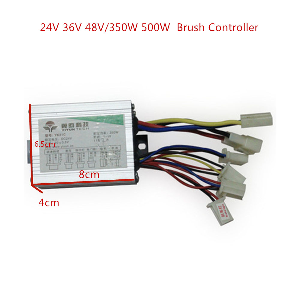 <font><b>24V</b></font>/36V/48V 250/350/<font><b>500W</b></font> <font><b>DC</b></font> Electric Bike <font><b>Motor</b></font> Brushed Controller Box for Electric Bicycle Scooter E-bike Accessory image