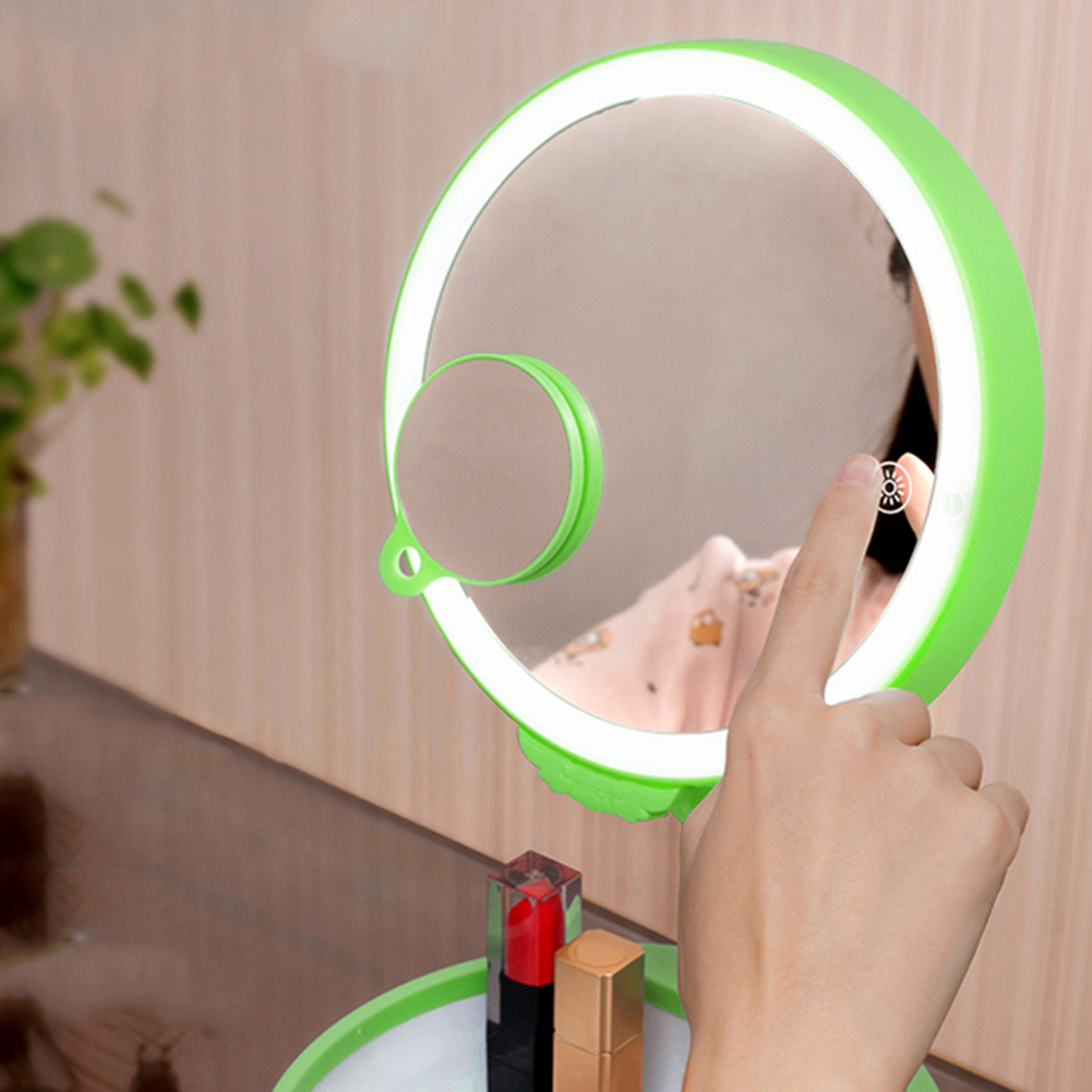 Magnification 3X Sensing LED Lighted Makeup Mirror Foldable Charging USB Adjustable Tabletop Lamp Cosmetic Mirror Make Up Tool женские кеды adv nce outlets 2015 usb zapatos led lighted shoes