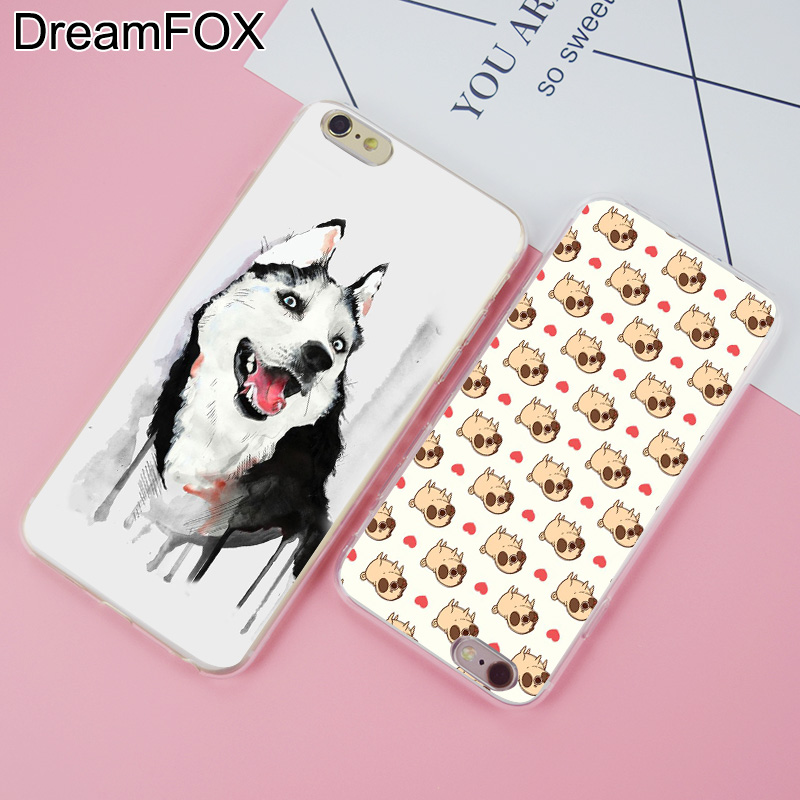 DREAMFOX K198 Sled Dogs Soft TPU Silicone Case Cover For Apple iPhone 8 X 7 6 6S Plus 5 5S SE 5C 4 4S